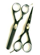 "Left Handed Professional Hairdressing Scissors Barber Shears black SET 5.5"""
