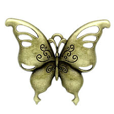 1 Large Bronze Metal Cutout Butterfly Charm Pendant. Chb0130