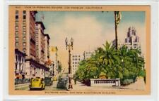 VIEW IN PERSHING SQUARE, LOS ANGELES: California USA postcard (C30271)