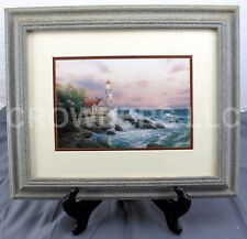 "Thomas Kinkade ""Beacon of Hope"" Lighthouse Matted & Framed Art Print 17"" x 14"""