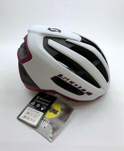 Scott Fuga Plus MIPS White / Purple Cycling Helmet Size Large New