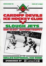 Oct 87 Cardiff Devils V Slough JET (Autunno Trophy DIAVOLI) (Seconda Stagione)