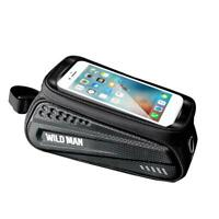 WILD MAN Waterproof MTB Bicycle Phone Bags Touch Screen Bike Top Tube Pouch TN2F