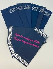 10 X Blue Silver Money Gift Envelopes Wedding Salami Shagun Rakhi Cash Wallets