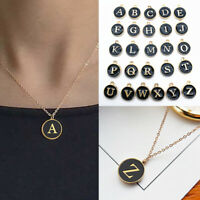 Initial Letter Alphabet A - Z Pendant Necklace Charm Chain Wedding Jewelry