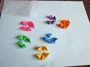 Star Wars Trivial Pursuit Game Wedges ONLY Replacement Part FREE SHIP 1997