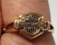 Harley Davidson Gold Ring In A+ Condition Yellow 10k Gold Size 9 Or 9.5