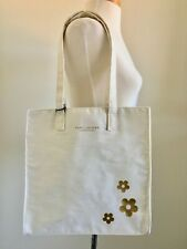Marc Jacobs Tote Bag Fragrance Bag Off White with Gold Flowers