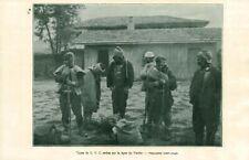 Document ancien types de G.V.C Serbes sur la ligne Vadar 1915  issu de magazine