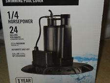 Everbilt Ebau25-Pcp Automatic Shutoff Pool Cover Pump 1/4 Hp 24 Gpm 25ft.Max.100