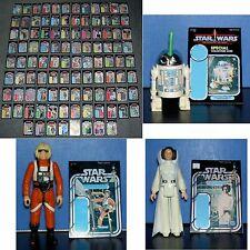 Vintage Star Wars 104 X LOT,SET,MINI BACKING CARDS,CARDBACKS,DISPLAY WITH FIGS!!