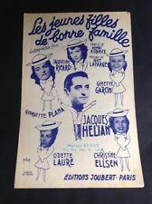 Partition Ginette Garcin Jacques Hélian Les jeunes filles de bonne famille - P1
