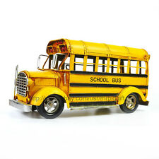 Handmade Classic School Bus-Big Size Tinplate Antique Style Metal Model