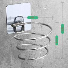 Stainless Steel Wall Mount Hair Dryer Holder Rack Hair Drier Comb Organizer