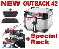 TRUNK TREKKER OBK42A OUTBACK 42 LT PLATE SR689 BMW R 1200 GS 04-12 + E157