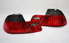 LED RÜCKLEUCHTEN HECKLEUCHTEN SET BMW E46 3er COUPE 99-03 ROT BLACK +LED BLINKER