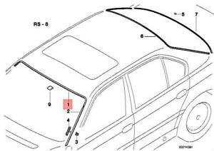 Genuine BMW E38 725tds 728i 728iL 730d 735i Covering Upper Chrom 51318125886