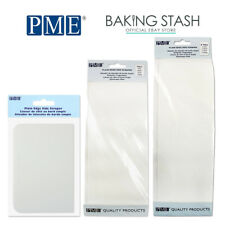PME Plain Edge Side Scraper Cake Decorating - Plastic Buttercream Icing Smoother