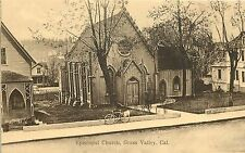 1907-1915 Litho Postcard; Episcopal Church, Grass Valley CA Nevada Co. Unposted