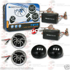 """Brand New Soundstream Car Audio 1"""" Dome Tweeters W/ Capicitor 220 Watts Pair"""