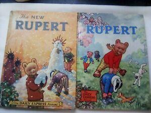 2x Vintage Rupert Annuals