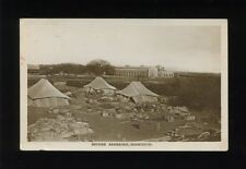 East Africa Military British Barracks and Tents c1900/10s? RP PPC