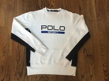 Polo Ralph Lauren Black label sport Spellout XS Mens boys sweater pullover white