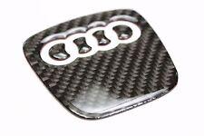 Carbon Steering Wheel Insert Emblem Badge Logo Sticker for Audi A4L A5 A6 Q5 Q7
