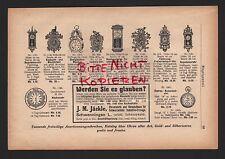 SCHWENNINGEN, Werbung 1911, J. M. Jäckle Uhrenfabrik Versandhaus für Schwarzwäld