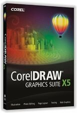 Corel Draw Graphics Suite X5 (Retail) - Full Version for Windows- NEW