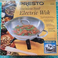 Presto Electric Wok 1500 W,17/14/9.5 In,stainless Steel High Quality.