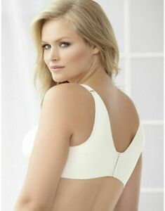 Catherines NWT No Wire Back Smoother Slimming Comfy Control Bra Plus 54D Ivory