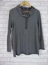 THREADZ AUSTRALIA Top/blouse Sz S, 10 Black, white stripe Roll neck