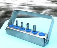 Dental Implant Tissue Punch Kit 5 Pieces set Surgical Tools & FREE Bur Holder