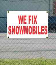 2x3 WE FIX SNOWMOBILES Red & White Banner Sign NEW Discount Size & Price