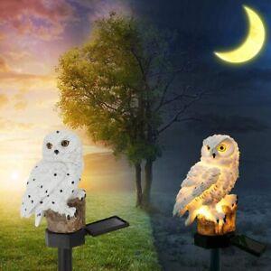 Solar Owl Ground Lights Outdoor Waterproof Garden Yard Landscape  LED Decor Lamp