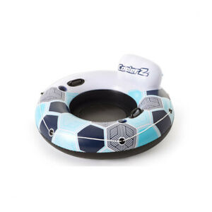 Bestway CoolerZ Rapid Rider 53 Inch Inflatable Pool River Raft Tube Float, Blue
