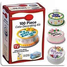 100PC Galleta Muffin Pastel Cupcake Glaseado Decoración Kit consejos Stencils Glaseado Bolsa