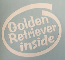 GOLDEN RETRIEVER INSIDE ON BOARD CAR WINDOW STICKER DECAL WHITE ALL COLOURS MADE