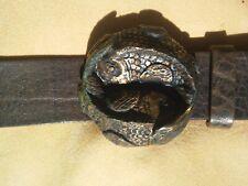 Gürtelschließe Fische, Gürtelschnalle, für Wechselgürtel, Koppelschließe, Bronze