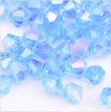 swarovski Crystal 4mm 5301# Bicone Beads Light blue ab 500pcs