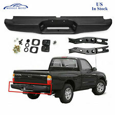 Black Complete Rear Steel Bumper Assembly Face Bar For 1995 2004 Toyota Tacoma Fits 1998 Tacoma
