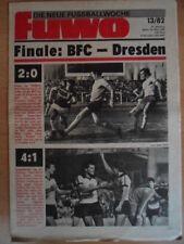 FUWO 13 - 30.3. 1982 3* Pokal-HF BFC-Frankfurt 2:0 Dresden-Energie Cottbus 4:1