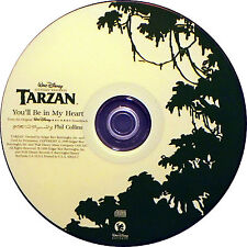 Disney's TARZAN: You'll Be In My Heart by Phil Collins (CD, May-1999, Disney)