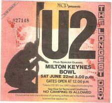 U2 Longest Day concert Milton Keynes ticket stub 22nd June 1985 REM Ramones