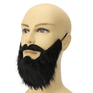 Costume Party MaleMan Halloween Beard Facial Hair Disguise Game BlackMusta^dm