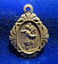 Vintage/Antique St Christopher Medal Art Nouveau Nice Patina