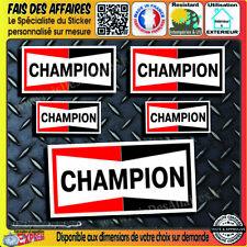 5 Stickers Autocollant Champion sponsor bougie decal rallye tuning auto moto