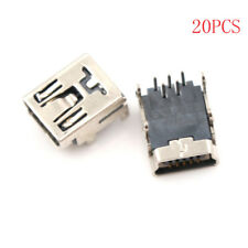 20X Mini Micro USB Type B 5 Pin Female Socket Right Angle DIP Jack Connector H&P
