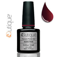 Qutique ADDICTION LED/UV Gel Nail Polish Colour -Metallic Burgundy